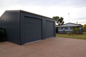 Garage with 2 Doors in Side Wall