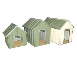 Gable Roof Steel Kennels